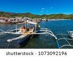 coron palawan philippines april ...   Shutterstock . vector #1073092196