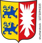 coat of arms of schleswig... | Shutterstock .eps vector #1073094335
