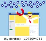 illustration vector flat of... | Shutterstock .eps vector #1073094758