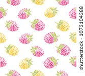 yellow and red raspberries on...   Shutterstock .eps vector #1073104388