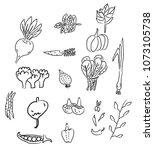 digital drawn illustration | Shutterstock .eps vector #1073105738