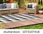 black and white geometric... | Shutterstock . vector #1073107418