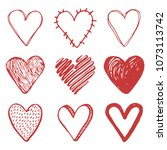 hand drawn set of different... | Shutterstock .eps vector #1073113742