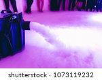 Dry ice low fog machine with hands on  for wedding first dance in restaurants