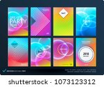 abstract colourful graphic... | Shutterstock .eps vector #1073123312