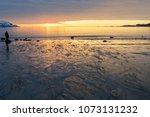 person watching a beautiful... | Shutterstock . vector #1073131232