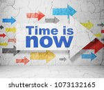 time concept   arrow with time... | Shutterstock . vector #1073132165