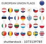 european union flags collection ... | Shutterstock .eps vector #1073139785