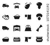 flat vector icon set   drying... | Shutterstock .eps vector #1073141192
