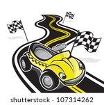 cute race car | Shutterstock .eps vector #107314262