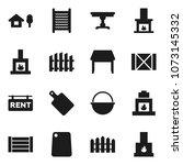 flat vector icon set  ... | Shutterstock .eps vector #1073145332