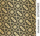 arabic seamless pattern with 3d ... | Shutterstock . vector #1073149835