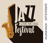 vector poster for a jazz... | Shutterstock .eps vector #1073153645