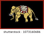 abstract shape of elephant... | Shutterstock .eps vector #1073160686