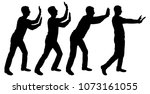 Vector Silhouette Of Four...