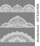 lace  lace napkins a set of... | Shutterstock .eps vector #1073161406