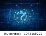 2d illustration question mark | Shutterstock . vector #1073165222