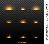 silver glitter bokeh lights... | Shutterstock .eps vector #1073174945