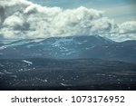 cairngorm mountains on the... | Shutterstock . vector #1073176952