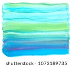 watercolor blue   turquoise... | Shutterstock . vector #1073189735