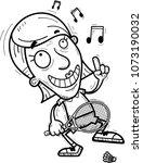 a cartoon illustration of a... | Shutterstock .eps vector #1073190032