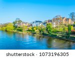 view of residential houses... | Shutterstock . vector #1073196305