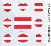 austria flag. national flag of... | Shutterstock .eps vector #1073199998