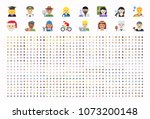 all type of people  different... | Shutterstock .eps vector #1073200148