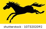black horse vector illustration | Shutterstock .eps vector #1073202092