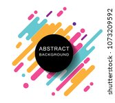abstract circle geometric... | Shutterstock .eps vector #1073209592
