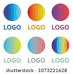 step colorful logo template...