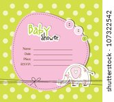 baby arrival card   Shutterstock .eps vector #107322542