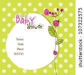 baby arrival card | Shutterstock .eps vector #107322575