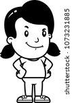 a cartoon illustration of a... | Shutterstock .eps vector #1073231885