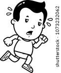 a cartoon illustration of a boy ... | Shutterstock .eps vector #1073232062