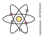 doodle physics science orbit... | Shutterstock .eps vector #1073251445