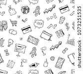 hand drawn or doodle style of... | Shutterstock .eps vector #1073251535