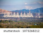 coal power plant and smoke... | Shutterstock . vector #1073268212