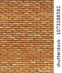old red brick wall texture... | Shutterstock . vector #1073288582