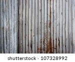 Rusty Corrugated Iron Metal...