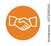 handshake icon .. | Shutterstock .eps vector #1073293262