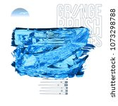 blue brush stroke and texture....   Shutterstock .eps vector #1073298788