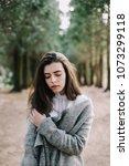 beautiful romantic young... | Shutterstock . vector #1073299118