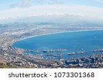 in south africa cape town city...   Shutterstock . vector #1073301368