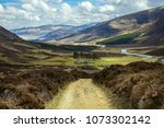 cairngorm mountains and route... | Shutterstock . vector #1073302142