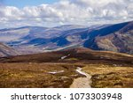 cairngorm mountains and route... | Shutterstock . vector #1073303948