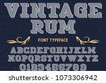 vintage font handcrafted vector ...   Shutterstock .eps vector #1073306942