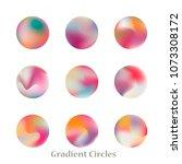round gradient set of vibrant... | Shutterstock .eps vector #1073308172