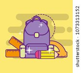 back to school supply | Shutterstock .eps vector #1073313152