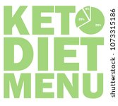 ketogenic diet macros diagram ... | Shutterstock .eps vector #1073315186